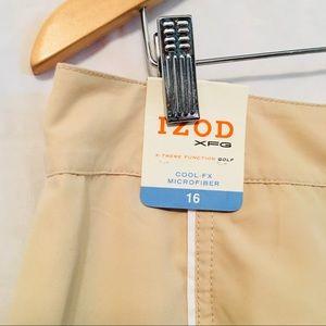 🆕IZOD Neutral Beige Skort Size 16 NWT Golf Tennis
